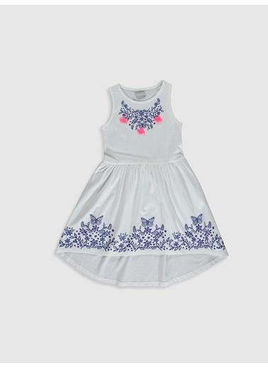 LC Waikiki Elbise Beyaz